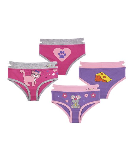 Kitty & Mouse Underwear Set - Kids