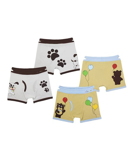 Dog & Bear Boxer Briefs Set - Kids