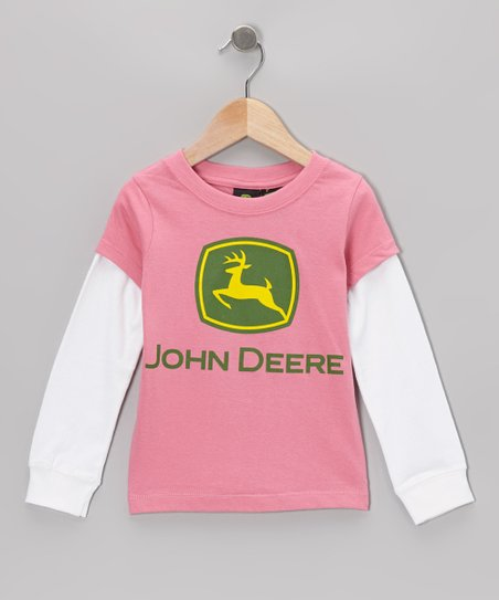 Medium Pink Logo Thermal Layered Tee - Toddler