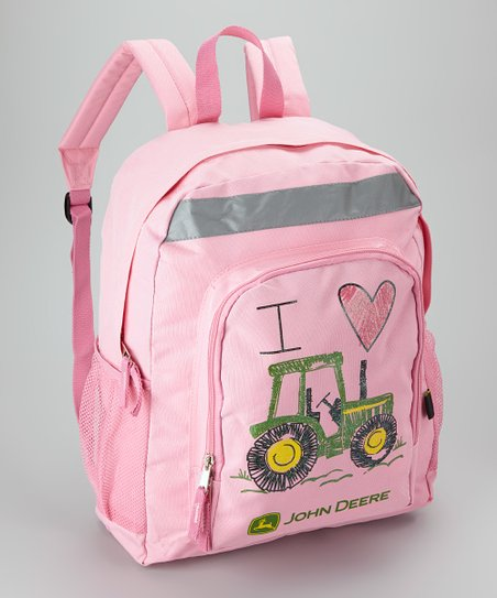 Pink Tractor Backpack
