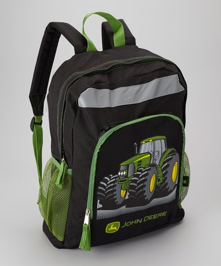 Black & Green Tractor Backpack