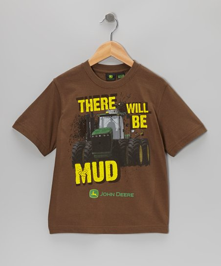 Brown 'There Will Be Mud' Tee - Boys