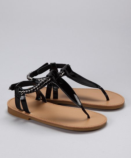Black Patent Kimber Sandal - Infant & Toddler