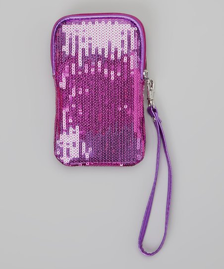 Purple Ombré Sequin Wristlet