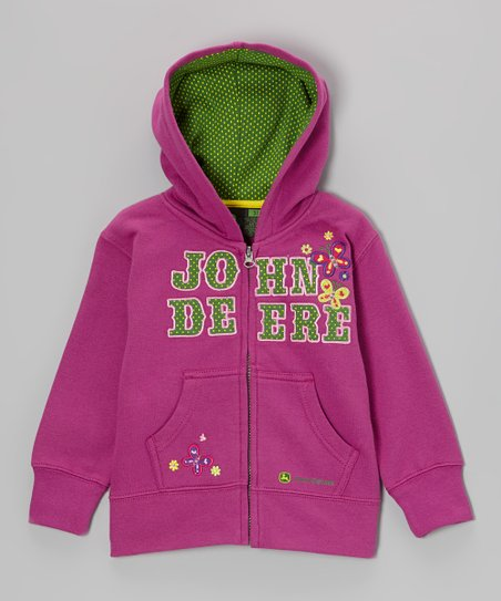 Fuchsia Butterfly Zip-Up Hoodie - Toddler