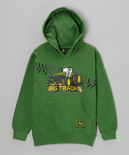 Green 'Big Tracks' Hoodie - Boys