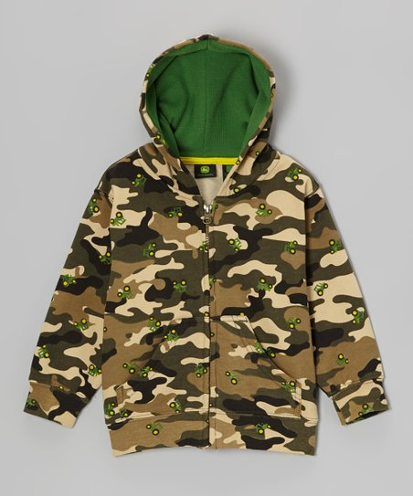 Camo Tractors Zip-Up Hoodie - Toddler