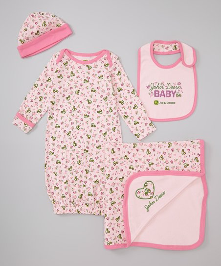 Light Pink Convertible Gown Set - Infant