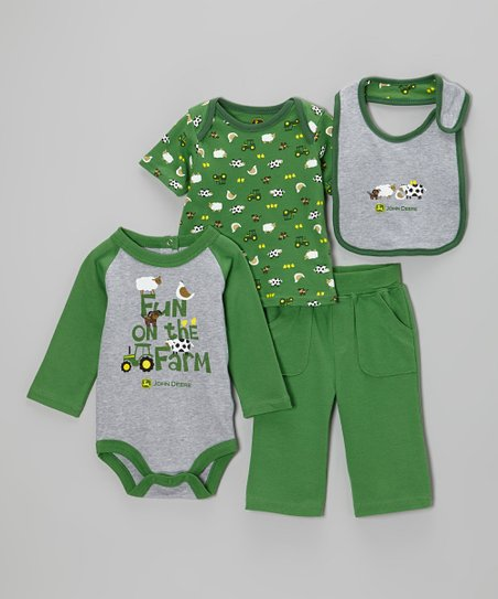 Green Farm Bodysuit Set - Infant