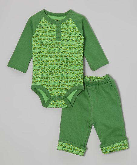 Green Bodysuit & Pants - Infant