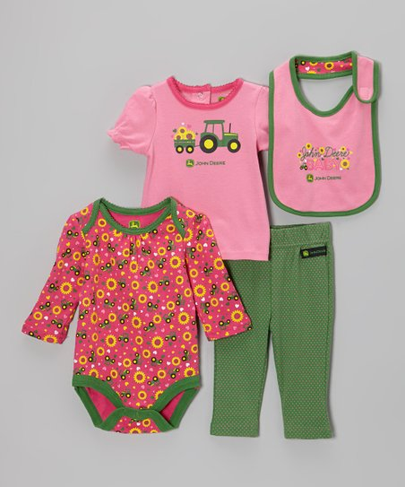 Medium Pink Bodysuit Set - Infant