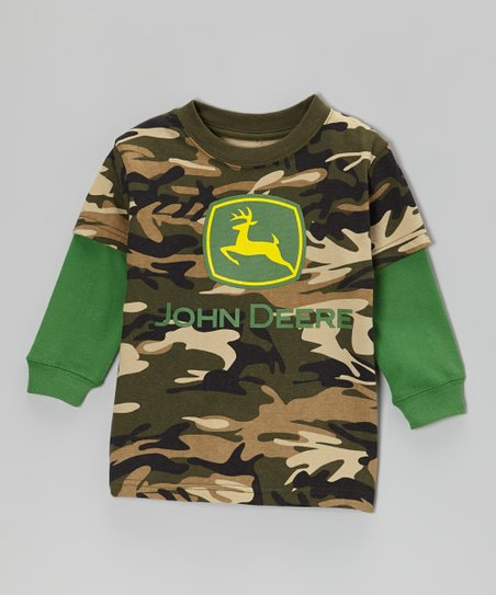 Camo Branded Layered Tee - Infant & Toddler