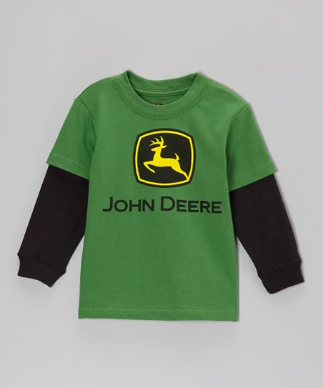 Green Branded Layered Tee - Infant