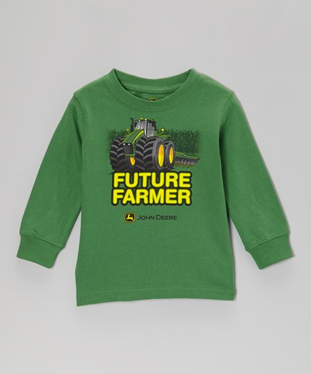Green 'Future Farmer' Long-Sleeve Tee - Toddler