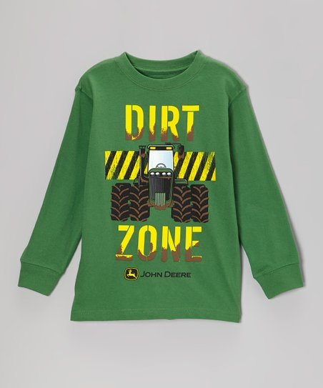 Green 'Dirt Zone' Long-Sleeve Tee - Boys