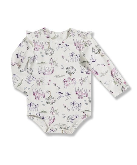 White Horses Bodysuit - Infant