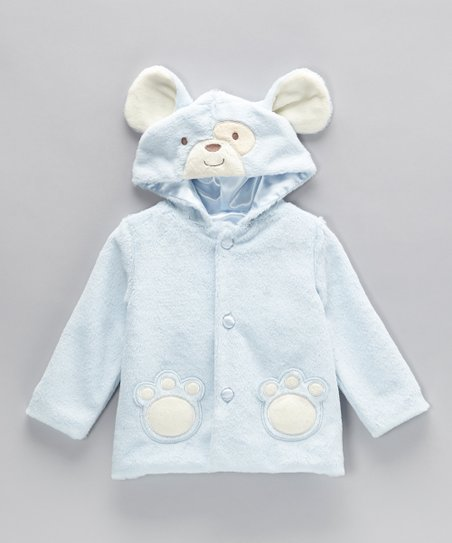 Blue Fluffy Bear Jacket - Infant