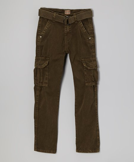 Army Belted Cargo Pants - Boys