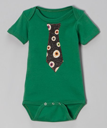 Teal Eyeball Tie Bodysuit - Infant