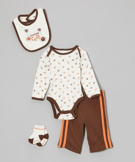 Brown 'Frightfully Cute' Pants Set - Infant