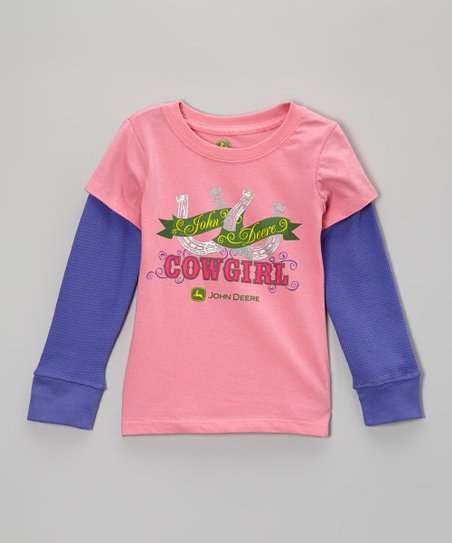 Pink & Purple 'Cowgirl' Layered Tee - Girls