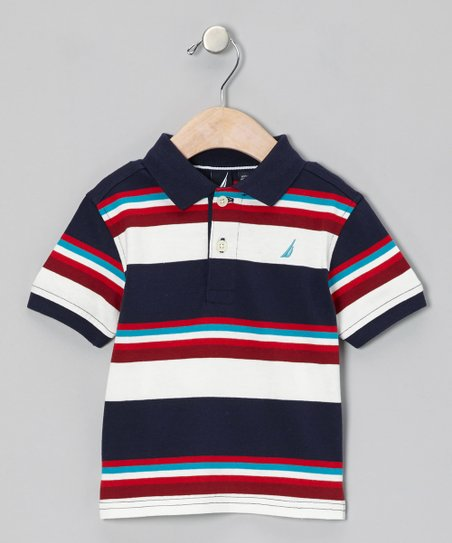 Peacoat Stripe Polo - Infant