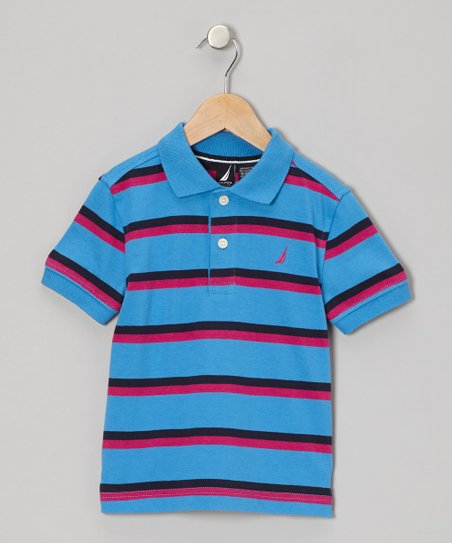 Blue Stripe Polo - Infant