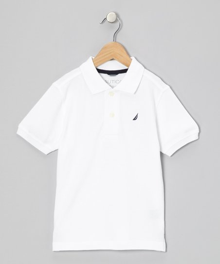 Sail White Polo - Infant & Boys