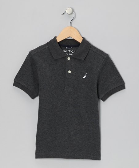 Coal Heather Polo - Boys
