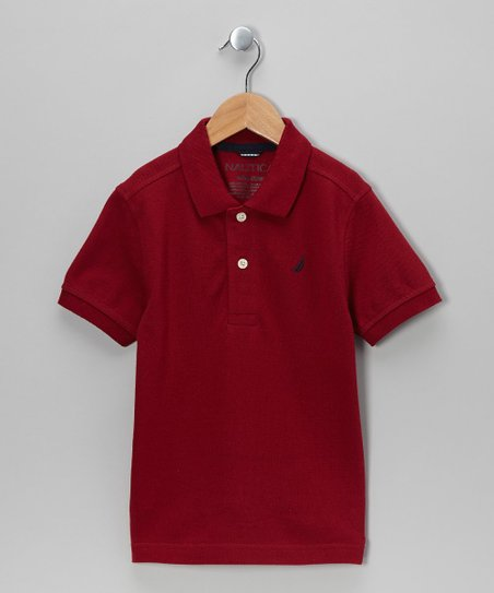 Biking Red Polo - Boys