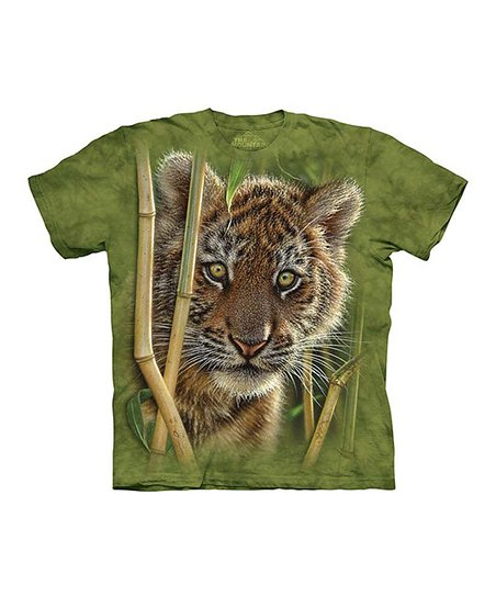 Green Baby Tiger Tee - Toddler & Kids