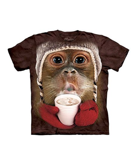 Brown Hot Cocoa Orangutan Tee - Toddler & Kids