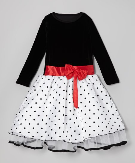 Black & Red Polka Dot Dress - Infant, Toddler & Girls