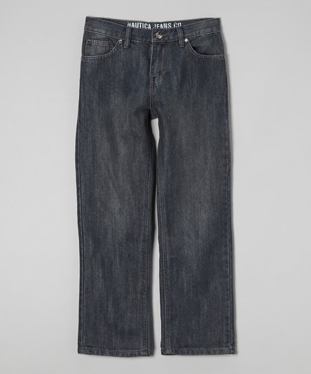 Dark Chrome Wide-Leg Jeans - Boys