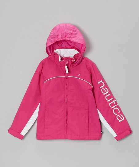 Bright Pink 'Nautica' Zip-Up Hoodie - Toddler & Girls