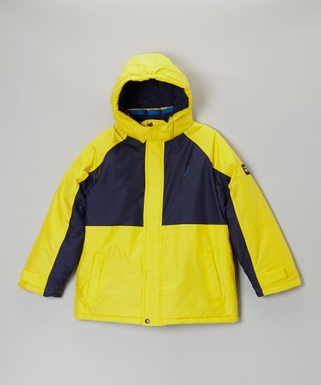 Yellow & Black Snorkle Jacket - Toddler