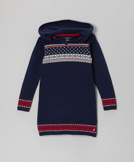 Navy Blue Sweater Dress - Infant & Girls