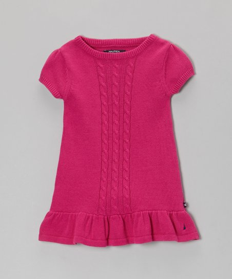 Bright Pink Sweater Dress - Infant