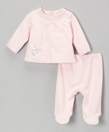 Pink Bow Top & Footie Pants - Infant