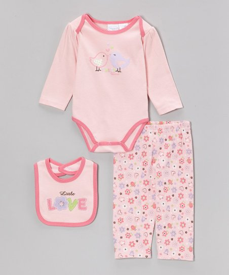 Pink 'Little Love' Bodysuit Set - Infant