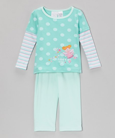 Aqua 'Make a Wish' Fairy Layered Top & Pants - Infant