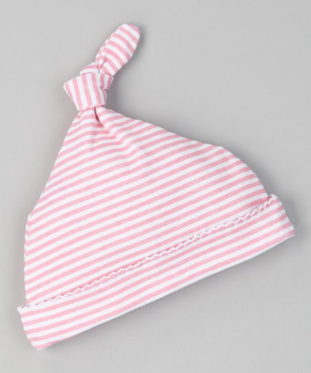 Pink Sweet Stripe Single-Knot Beanie - Infant
