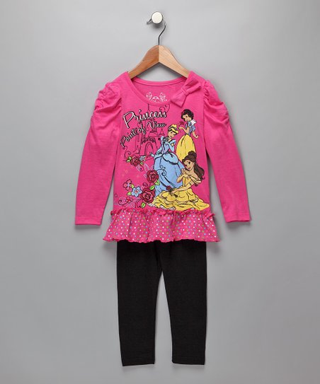Pink 'Princess Point of View' Ruffle Tunic & Leggings - Toddler