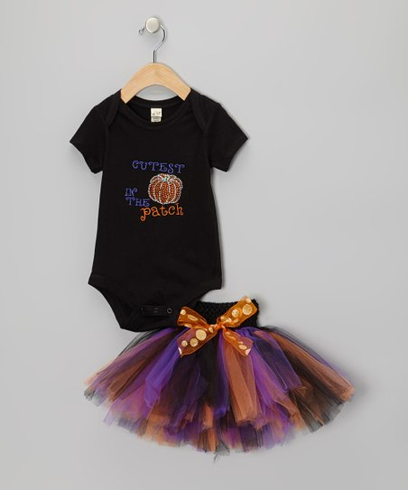 Black 'Cutest in the Patch' Tee & Tutu - Infant