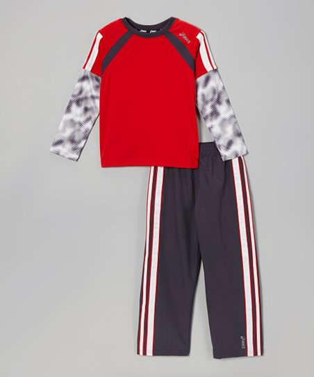 True Red Halfback 11 Layered Top & Track Pants - Boys