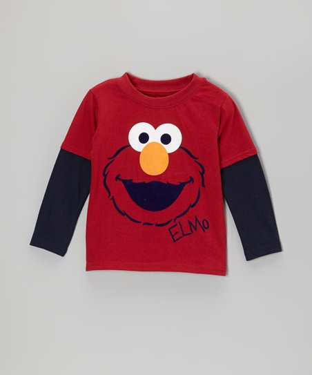 Red Elmo Face Layered Tee - Infant & Toddler