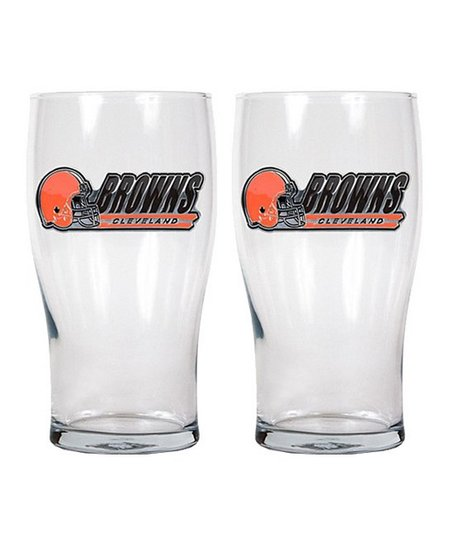 Cleveland Browns Pub Glass - Set of Two