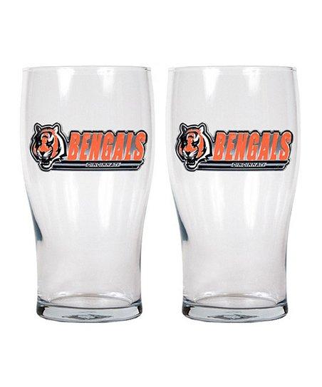 Cincinnati Bengals Pub Glass - Set of Two