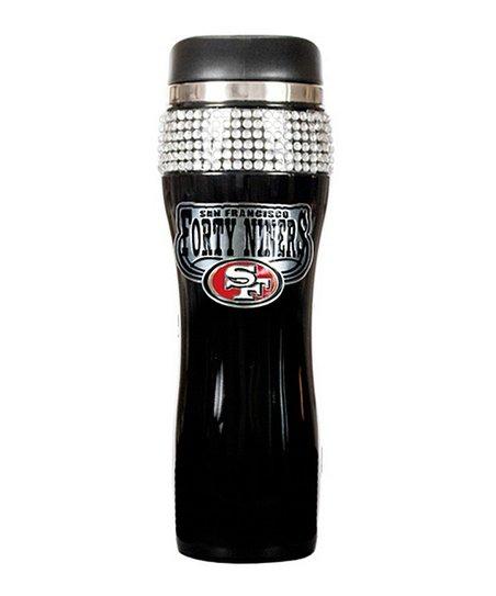 San Francisco 49ers Black Rhinestone Travel Tumbler
