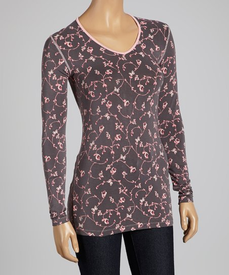 Stone Vines One V-Neck Top - Women